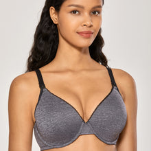 Load image into Gallery viewer, NEW! Heathered Lace Trim Underwire Nursing Bra