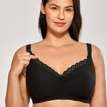 Load image into Gallery viewer, Cotton Unlined Wirefree Nursing Bra