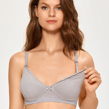 Load image into Gallery viewer, Cotton Plunge Wirefree Nursing Bra