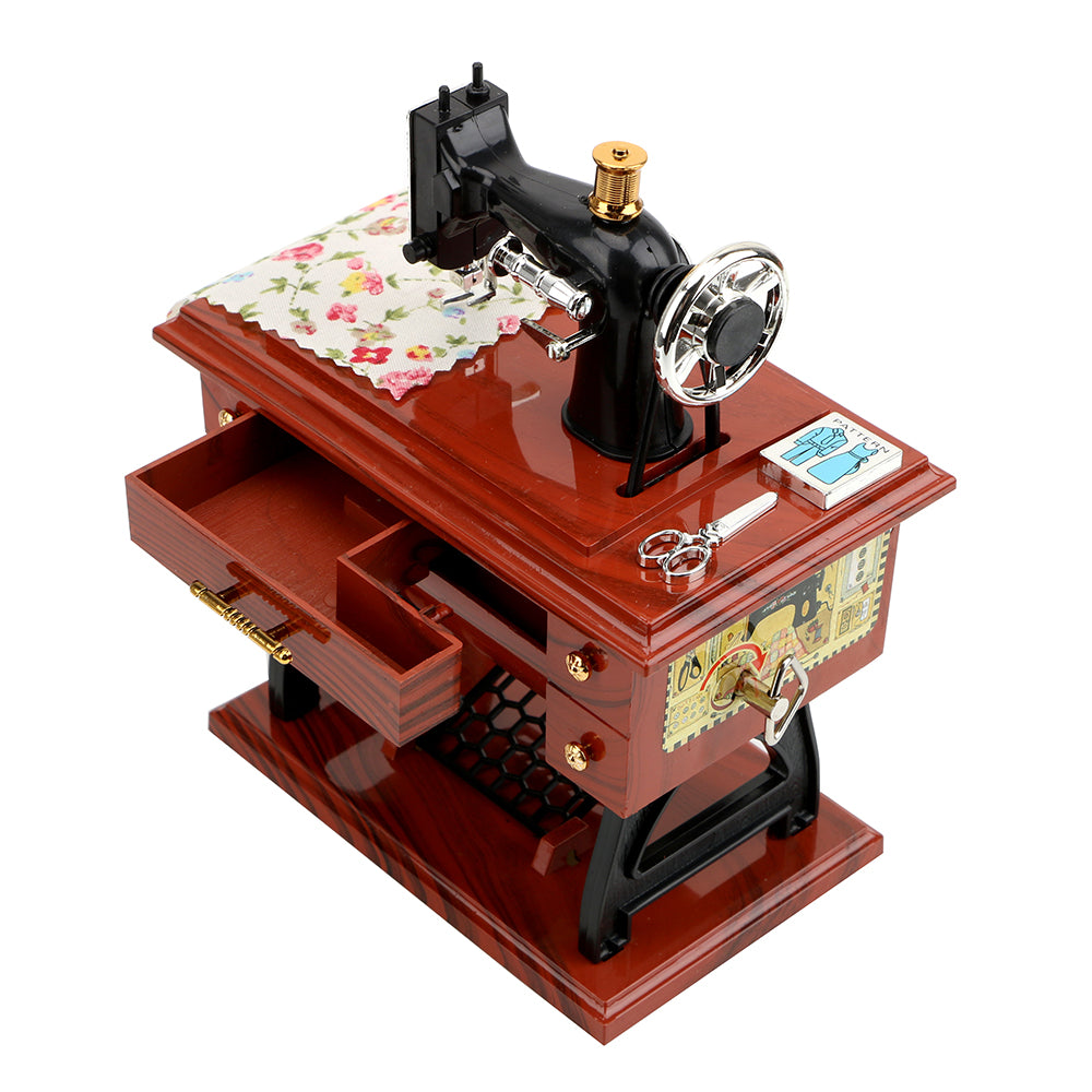Sewing Machine Music Box Home Crafts Decoration