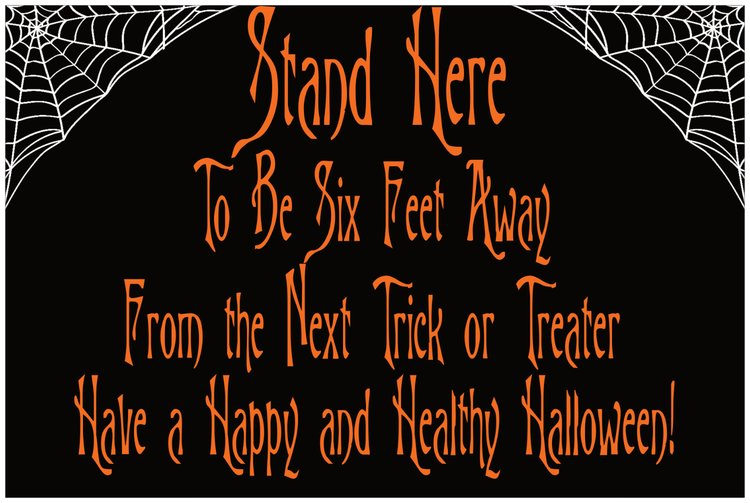 Social Distanced Trick or Treating Floor Decals