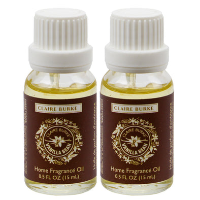 Vanilla Bean Home Fragrance Oil 15ml - 2 Pack
