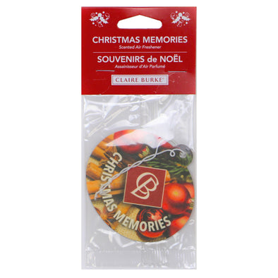 NEW CHRISTMAS MEMORIES® AUTO FRESHENERS