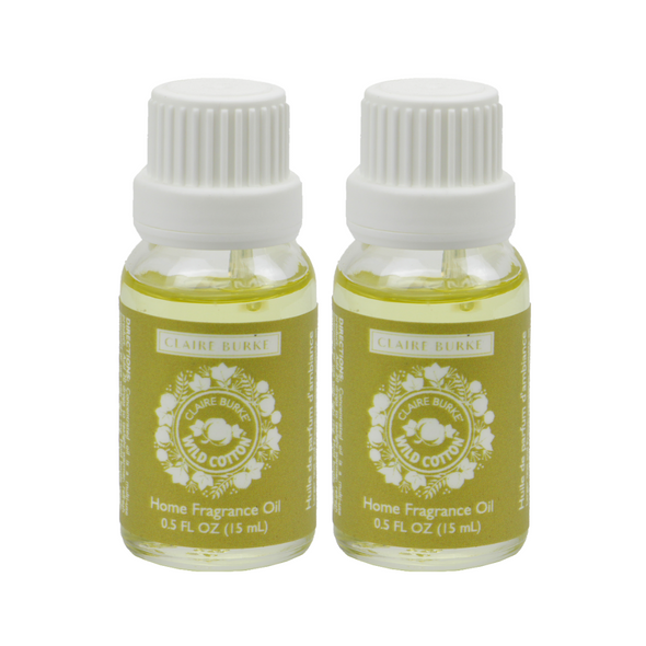 Wild Cotton Home Fragrance Oil 15ml - 2 Pack