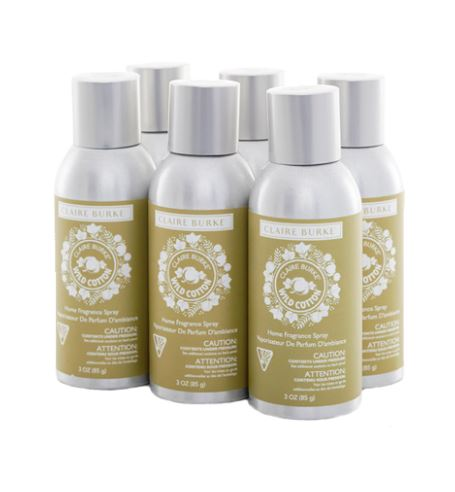 Wild Cotton 3oz Home Fragrance Spray 6 Pack