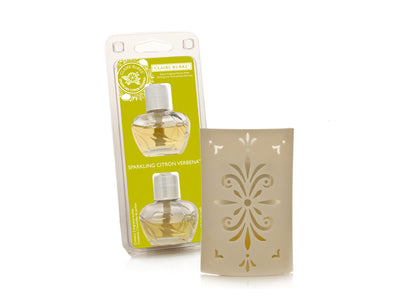 Sparkling Citron Verbena Electric Fragrance Warmer Unit & Refill Bundle