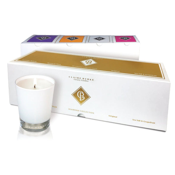 Diamond Collection Boxed Luxury Candles Mixed (4 Pack)