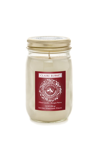 Christmas Memories 14oz Glass Filled Candle