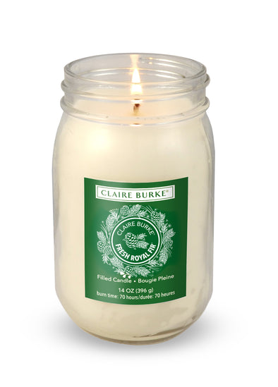 Fresh Royal Fir 14oz Glass Filled Candle