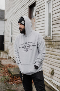 Less People Premium Pullover Hoodie - Athletic Grey