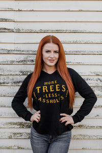 More Trees Women's Pullover Hoodie - Black