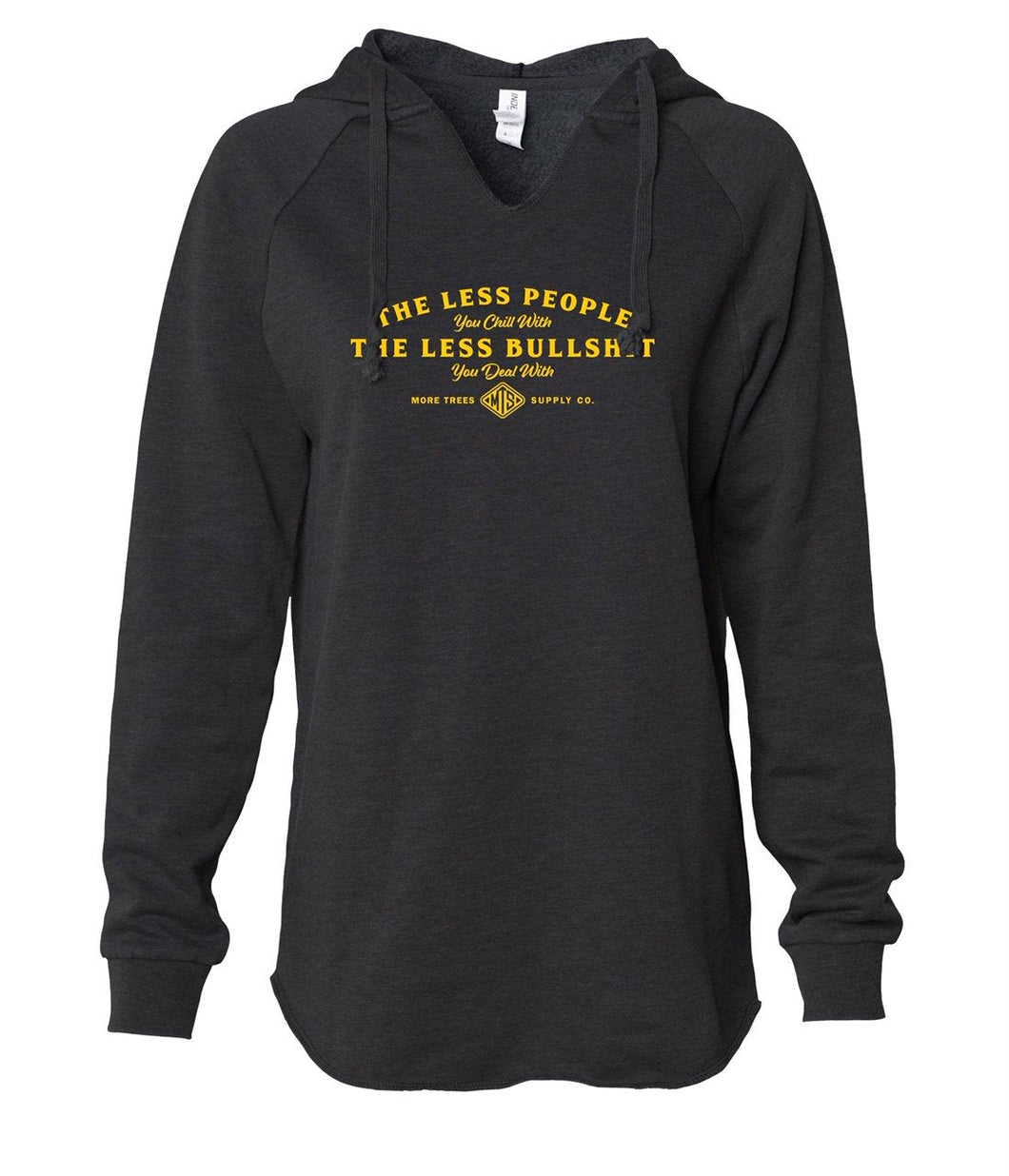 Less People Women's Pullover Hoodie - Black