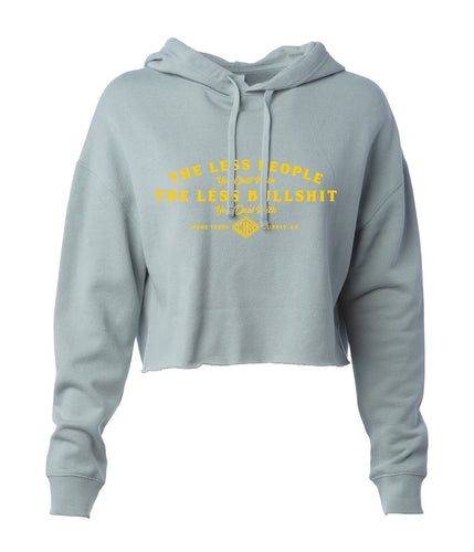 Less People Women's Cropped Pullover Hoodie