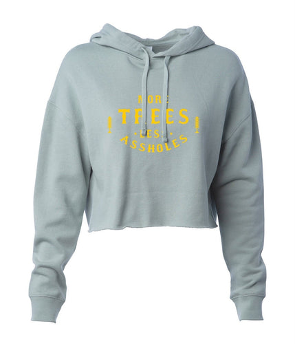 More Trees Women's Cropped Pullover Hoodie