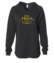 Load image into Gallery viewer, More Trees Women's Pullover Hoodie - Black