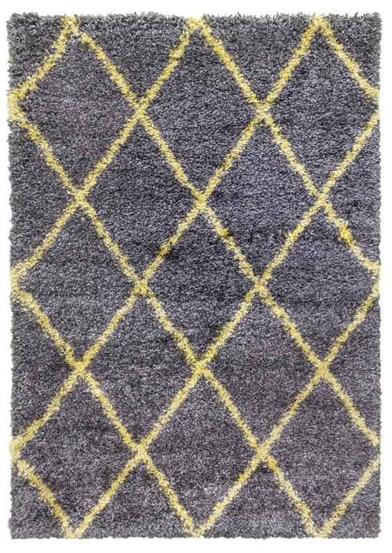 Fantasia Trellis Yellow and Dark Grey
