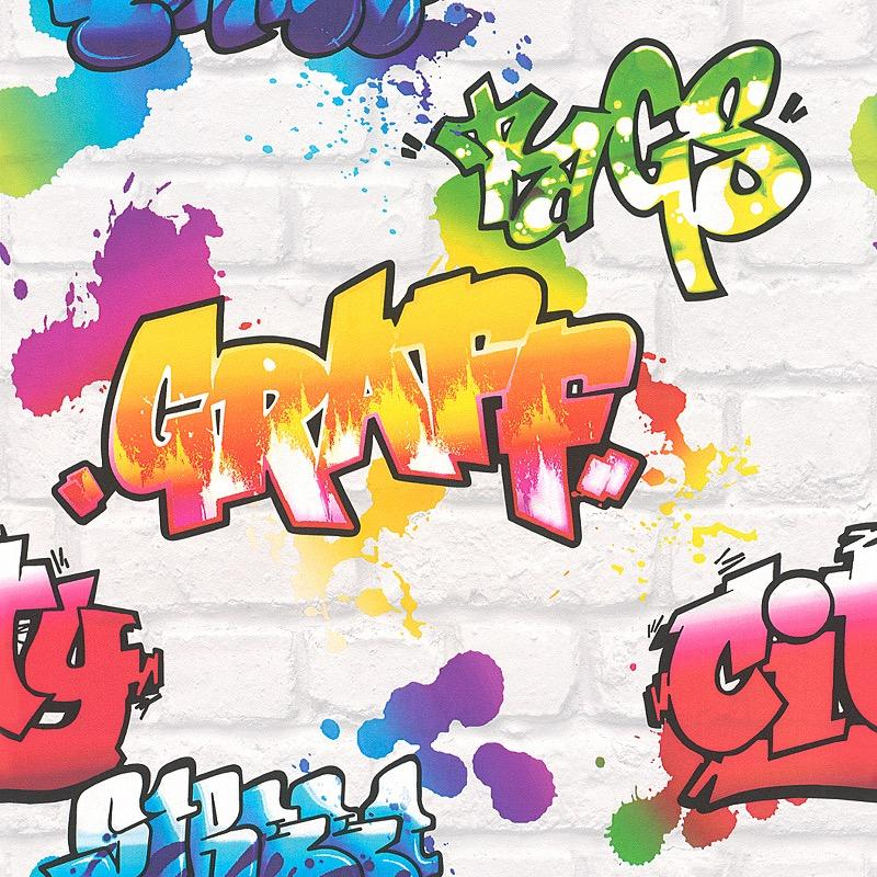 Graffiti multi colour gerrykeane