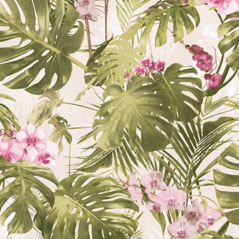 MY218802g Fabulous tropical jungle design on 'easy hang' paste the wall, matt vinyl.