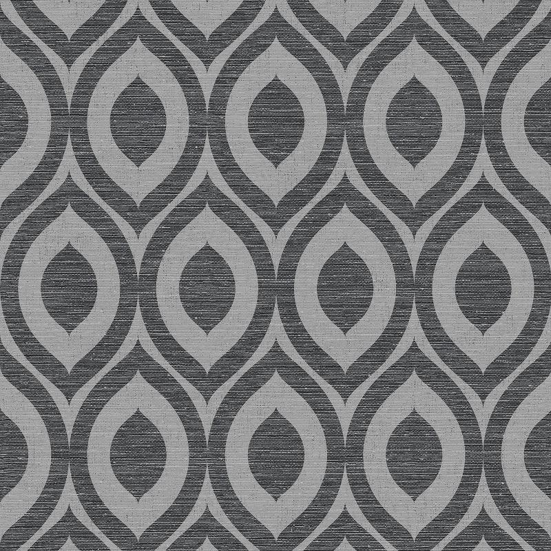 WM110061C Tasteful linen textured geometric creates a spacious modern feature.