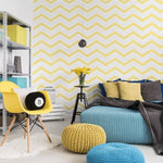 WM116644C A crisp modern look that instantly catches the eye. Following a popular Scandinavian geometric trend, this zig-zag chevron design creates a fresh and inviting vibe in any room.