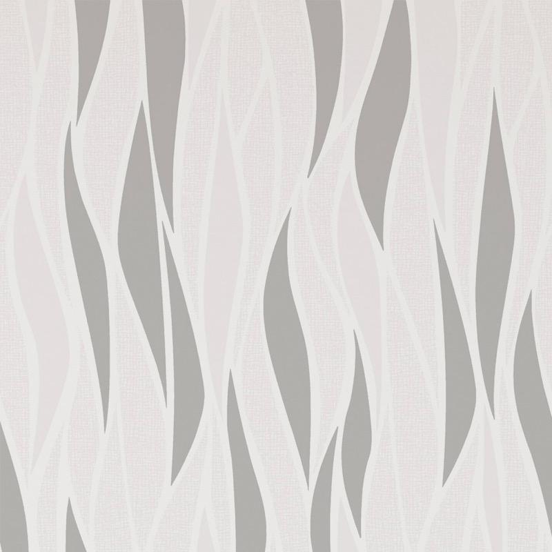 b14944106m Beautiful geometric wave feature in white with beige glitter highlights