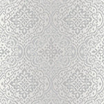 b3700902g Ethnic-inspired damask textured wallpaper with glitter highlights.