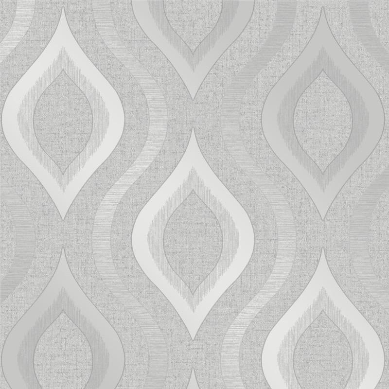 b4100968f Elegant geometric wave in subtle grey with glitter highlights on super heavyweight blown vinyl.