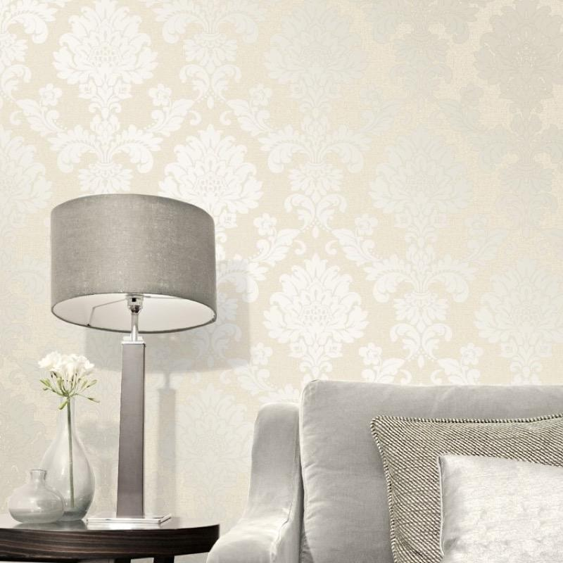 b4122970f Gorgeous glitter damask in cream on super heavyweight blown vinyl.