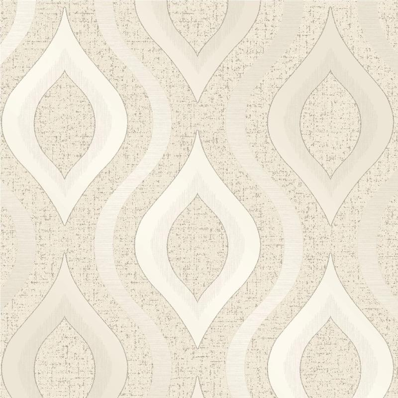 b4122973f Elegant geometric wave in cream with glitter highlights on super heavyweight blown vinyl.