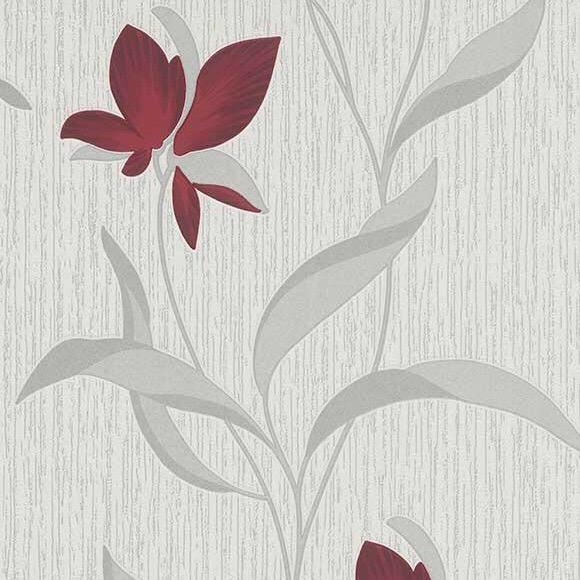 b97311006e Red floral with a modern silver leaf.