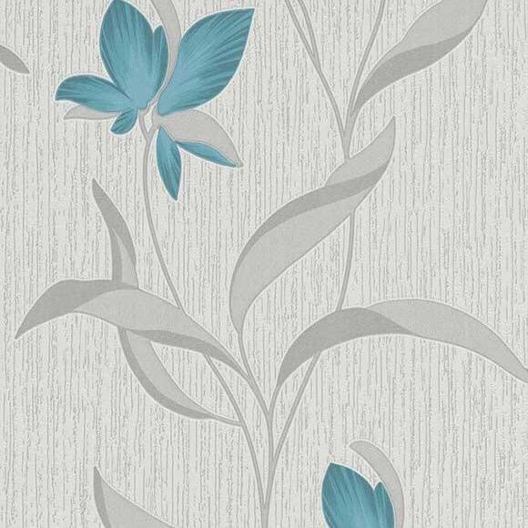 b97399018e Teal floral with a modern silver leaf