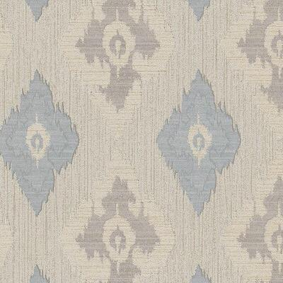 b97944111e A textured vinyl with a modern, geometric diamond pattern in beige and blue.