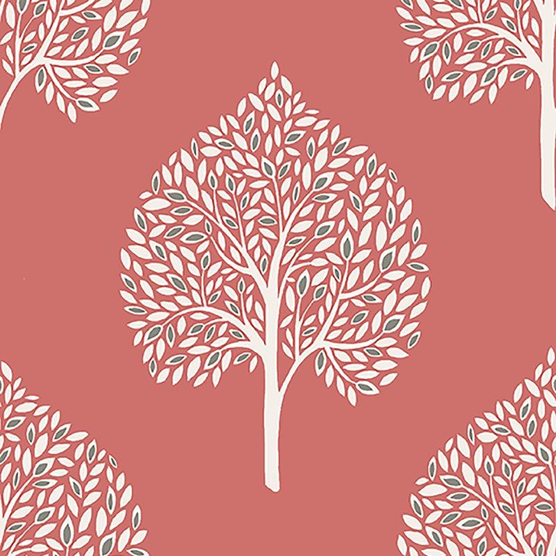 n2211707f A really fresh and modern look, with this minimalist tree wallpaper in vibrant colour.