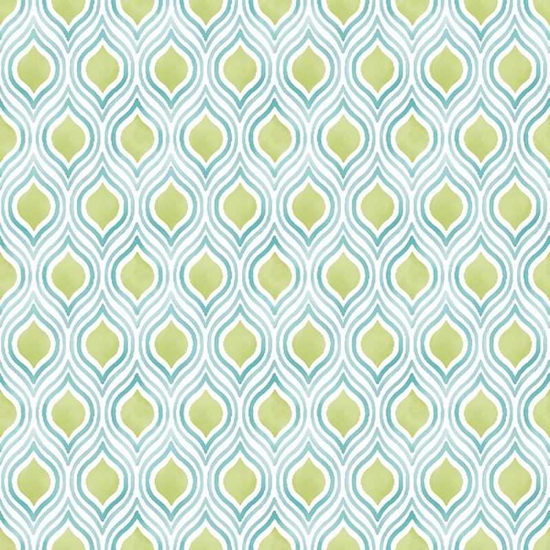 n2255715f Fresh and colourful watercolour feature in lime and blue on high grade 'paste the wall' wallpaper for modern spaces.