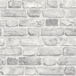 n2800903g Fabulous 'easy-hang', paste the wall, vinyl. Rustic '3D' brick effect in soft grey.