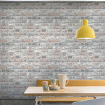 n2888902g Fabulous 'easy-hang', paste the wall, vinyl. Rustic '3D' brick effect.