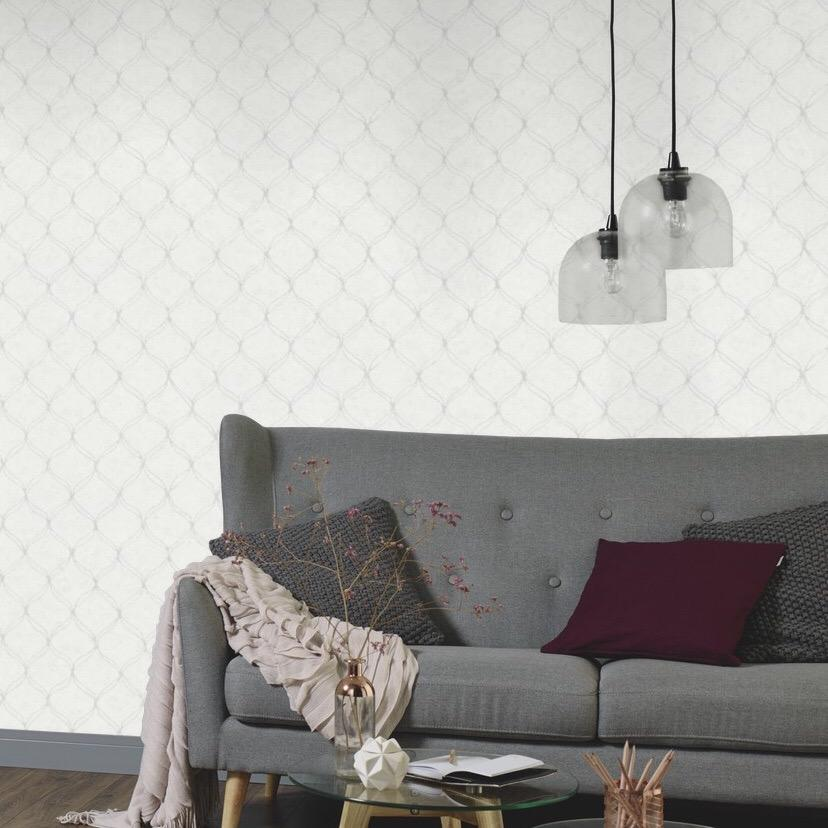 n63322431e An elegant 'ribbon trellis'. Fabulous, non-woven, paste the wall product.