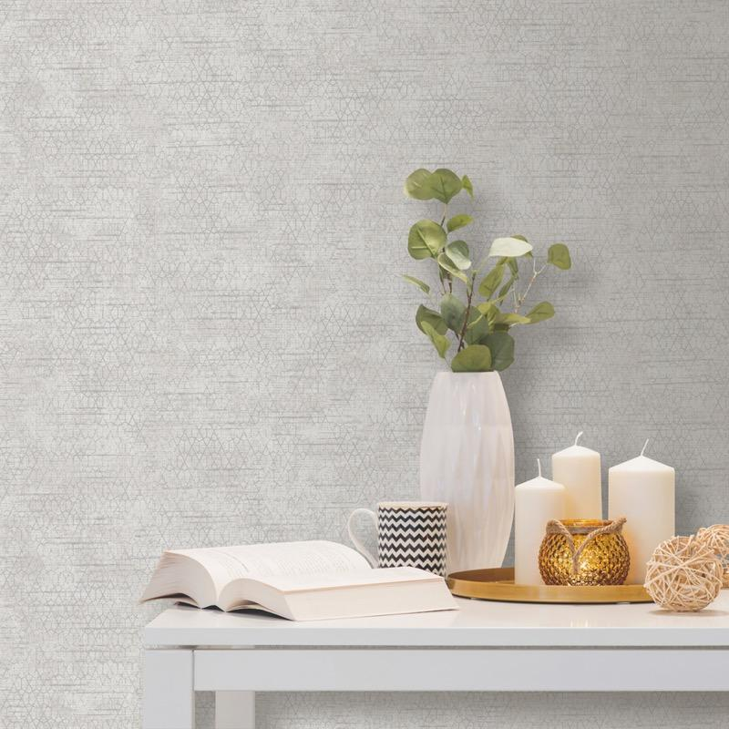 n7500819u Beautiful subtle geometric design on textured paste the wall paper.