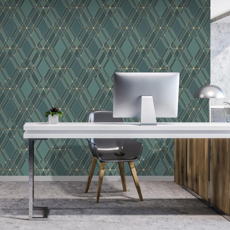 n7755811m Paste the wall, contemporary and stylish diamond geometric.