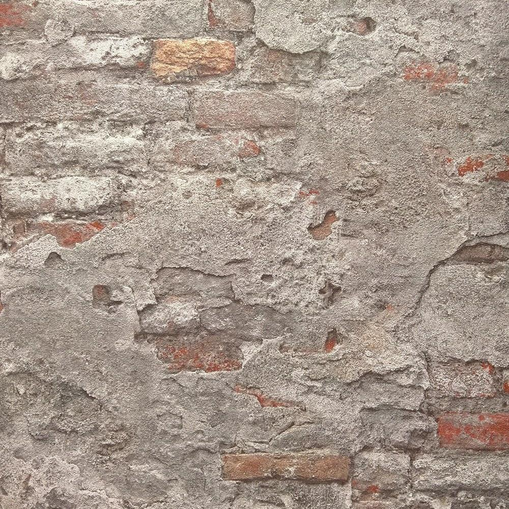 n93900330r Gorgeous rustic 3D brick effect paste the wall product in grey