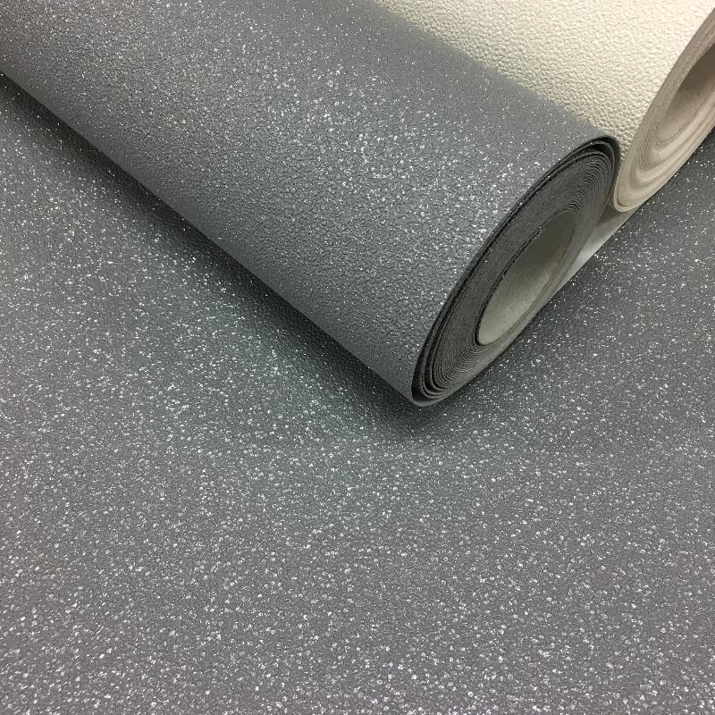 nh133004860p Gunmetal grey Glitter, fabric backed, paste the wall, heavy vinyl wallpaper. Supreme Quality