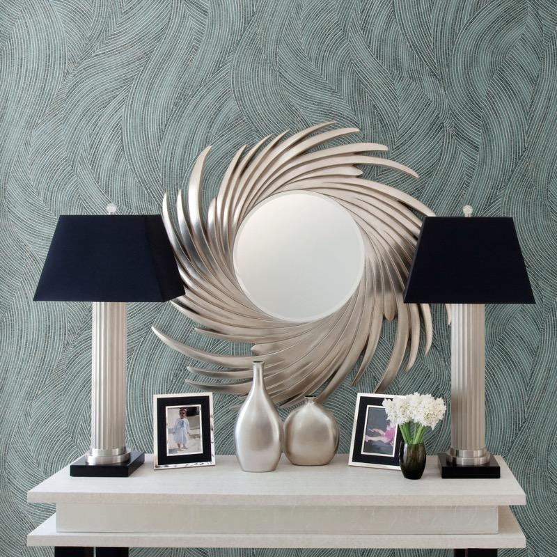 nv21955170d Delicate modern wave on superior quality, paste the wall, vinyl.