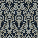 nv21977175d Beautifully elegant, classical damask on a rich navy blue background. Superior quality, paste the wall vinyl.