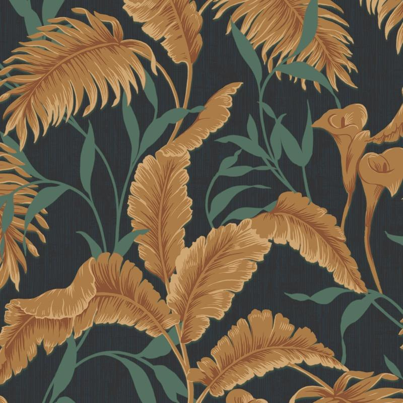 nv21977178d Fabulous flowing leaf design on a heavy weight, paste the wall, vinyl. Perfect for a statement feature wall.