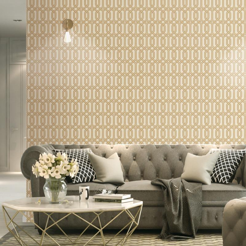 nv22066012d Paste the wall geometric trellis. Perfect for modern feature walls.