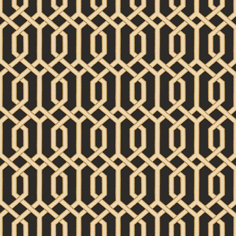 nv22066016d Superior quality, paste the wall, geometric trellis in black and metallic gold