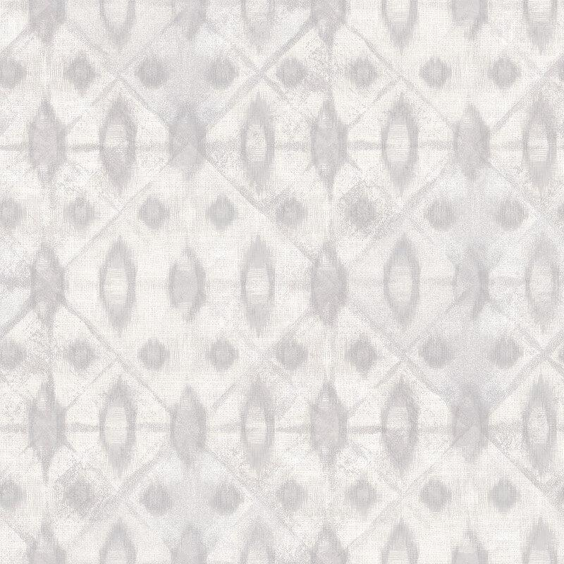 nv300001g Stylish and modern geometric tie-dye shibori design in grey. Perfect for a feature wall. 'Easy hang' paste the wall, matt vinyl.