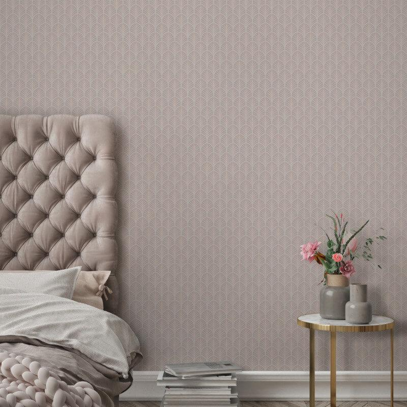 nv352203g 'Easy-hang', paste the wall, vinyl. Delicate flame motif on rich neutral background.