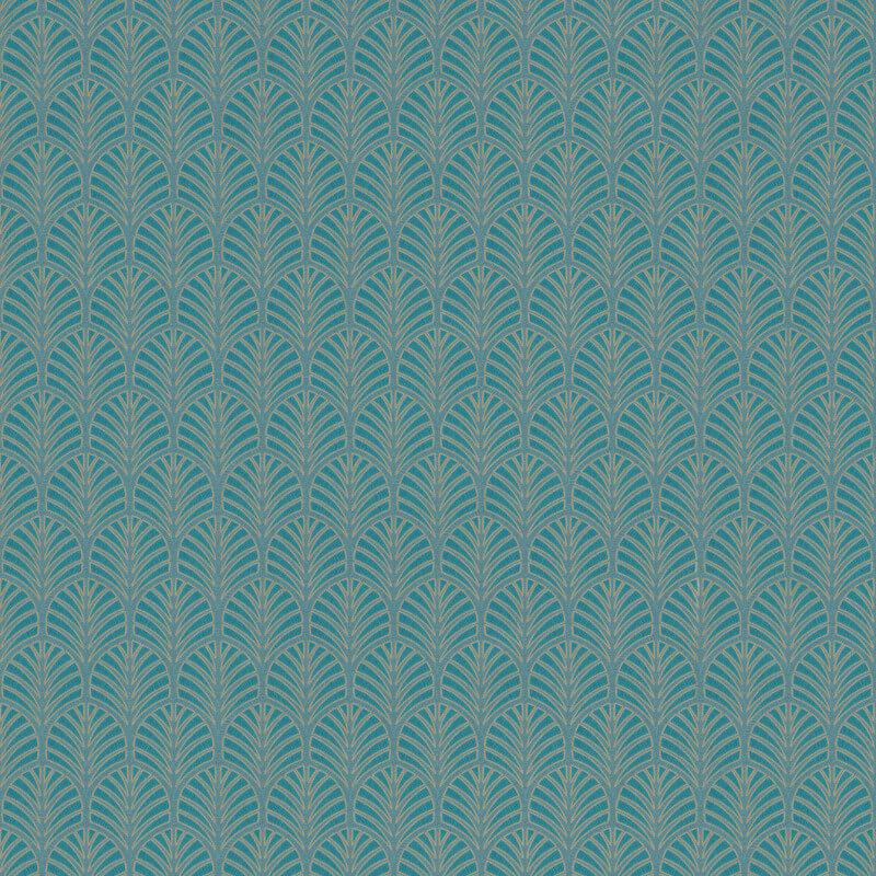 nv355501g 'Easy-hang', paste the wall, vinyl. Delicate flame motif on a fashionable teal backdrop.