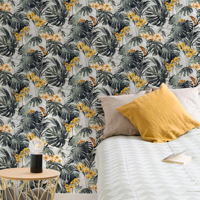 nvmy216601g Fabulous tropical jungle design on 'easy hang' paste the wall, matt vinyl.